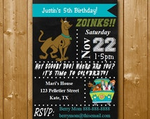 Scooby Doo Invitation Scooby Doo Birthday Party Invitations INSTANT DOWNLOAD Editable Text