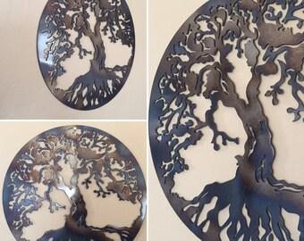 Tree of Life Metal Wall Art Decor