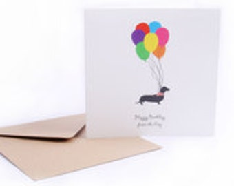 Happy Birthday from the Dog - Greetings Card