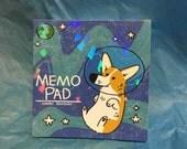 Space Corgi Memo Pad