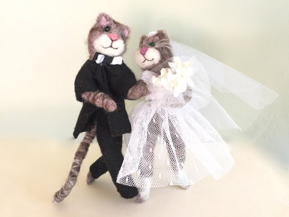cat bride and groom wedding cake topper wedding cake topper cats wedding cake topper by 12452