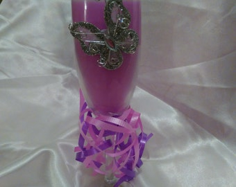 candle , soy jar candle , flute glass