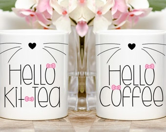 Hello Coffee or Hello Kit-Tea Hello Kitty Inspired Coffee/Tea Mug
