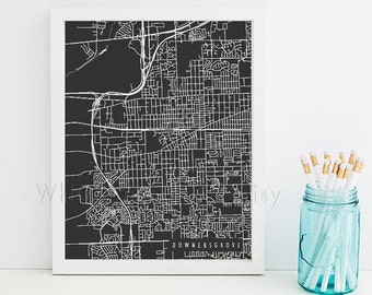 Downers Grove Map Downers Grove Art Downers Grove Map Art Downers Grove Print Downers Grove Printable Illinois Art