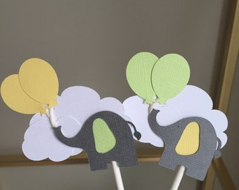 Baby Elephant Cupcake Toppers!