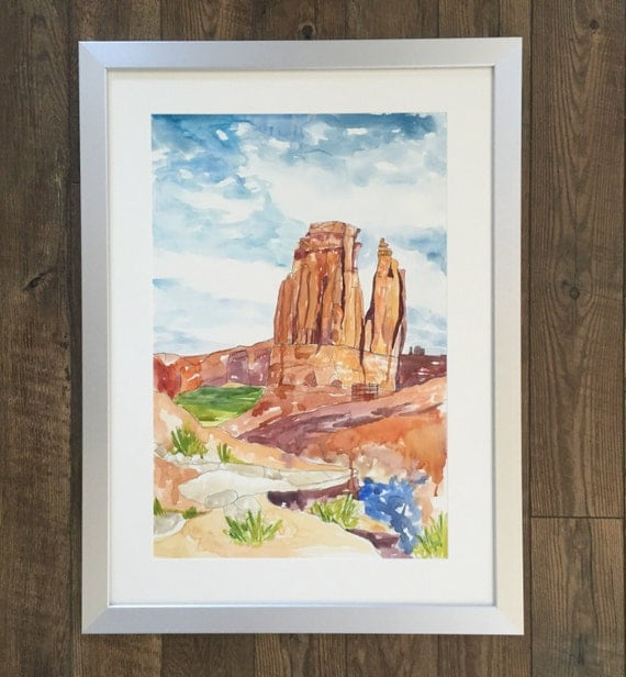 Arches National Park Moab Utah- Watercolor Painting
