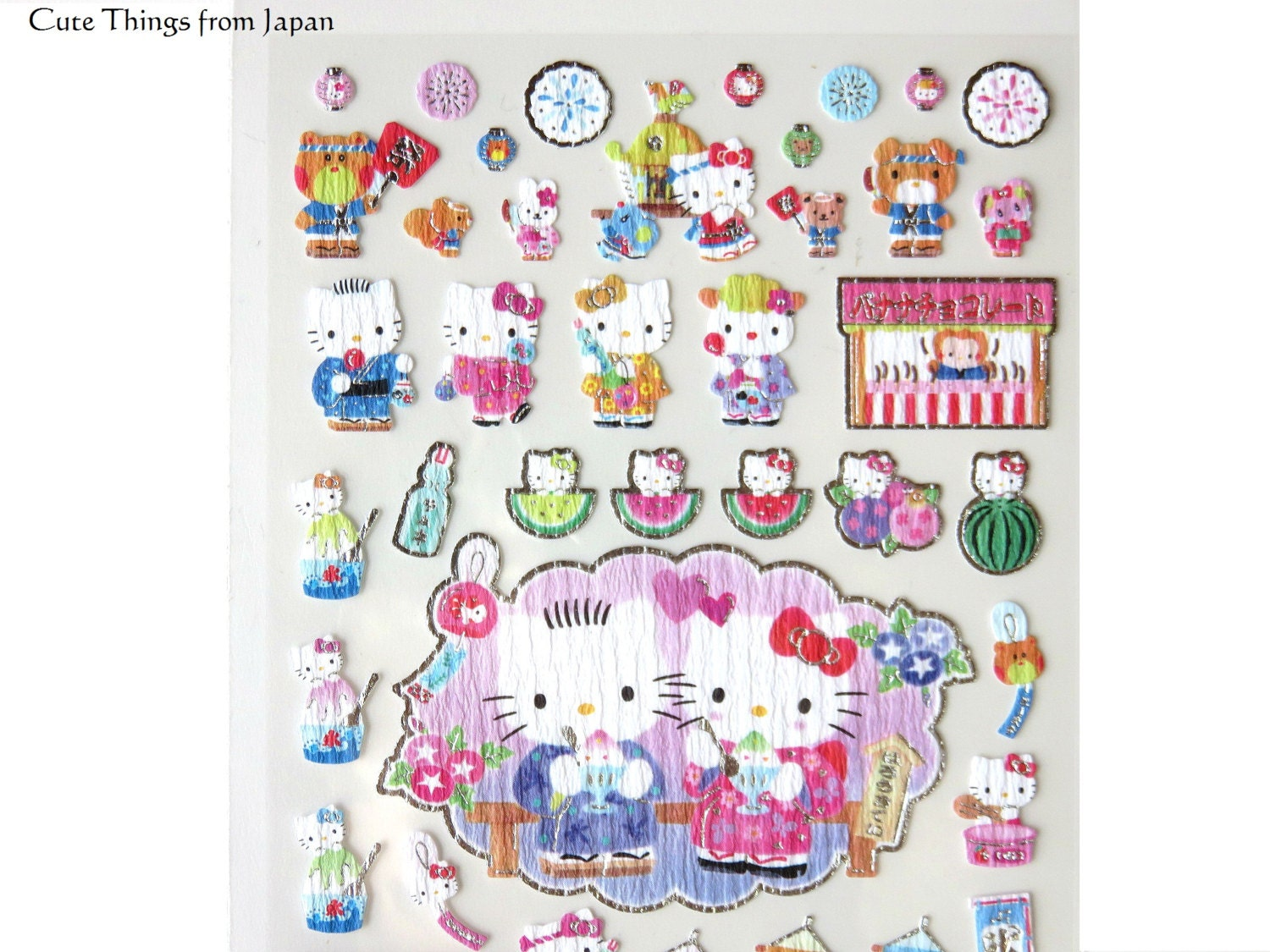 Stickers hello kitty chambre hello kitty stickers hello for Chambre hello kitty