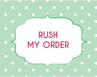 Rush order fee - Receive your proof within 24 hours