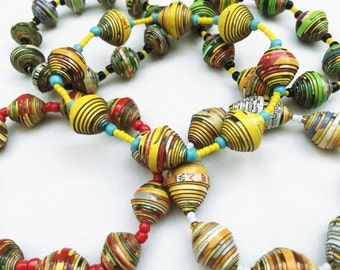 Handmade Necklace / Handmade Bracelet / Handmade Beads / Handmade Jewelry / Handmade Jewelry from Haiti  /