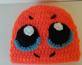 Toddler charmander hat, Crochet pokemon hat, baby charmander hat, newborn pokemon hat, charmander hat, Pokemon beanie, ready to ship