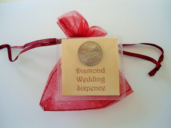 60th Wedding Anniversary Gifts For Parents: 60th Anniversary Gift Diamond Wedding Sixpence 60th By