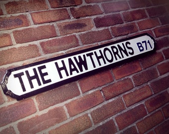 The Hawthorns West Bromwich Albion Vintage Football Street Sign