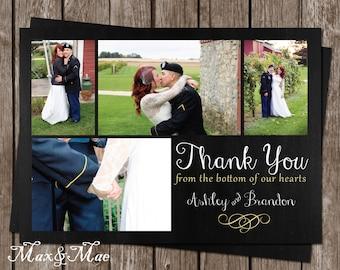 Wedding Card Thank You, Bridal Shower Thank You, Wedding Photo Thank You, Thanks for Everything Postcard, Printable, Digital