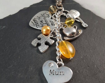 Mum bag charm - mothers day gift - Mum gift - personalised gift for mum - Birthday gift for mum - I love you mum - Christmas gift for mum