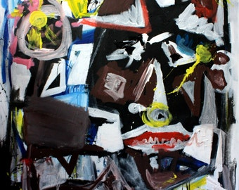 Original painting on canvas - abstract painting handmade art painting furniture saverio filioli