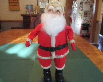 Vintage Santa Claus, 1940's Christmas, primitive