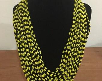 Multi strand hand crafted necklace from Samburu Kenya