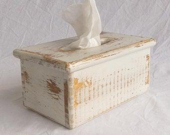 Tissue Box Cover – Wooden – Rectangular tissue boxes – Holds rectangular facial tissue boxes
