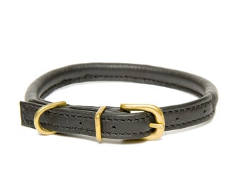 D&H Classic Rolled Leather Collar