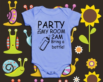 Novelty Funny Baby Grow | Party in my Room 2am