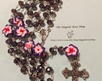 Beautiful Handmade Rosary in Purple