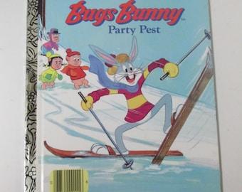 Vintage Little Golden Book Bugs Bunny Party Pest 1976