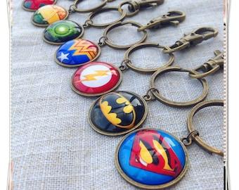 Superhero keychain, Justice League Keychain