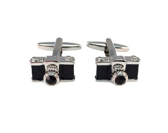 Camera Photography Cuff Links (Black)