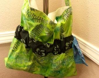 Green Batik Shoulder Bag