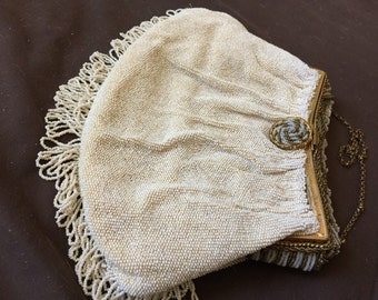 Rare European Beaded Evening Purse Bag