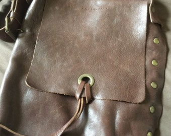 Vintage Leather Shoulder Bag Purse