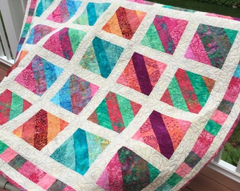 Beautiful Batik Quilted Wall Hanging or Throw
