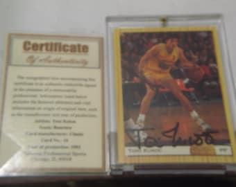 1993 Autographed Toni Kukoc Classic Card #10,with certificate