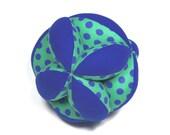 Fabric Stuffed Ball, Fabric Ball, Segmented Ball, Segmented Fabric Ball, Stuffed Segmented Ball, Baby Gift, Holiday Baby Gift, Gift For Baby