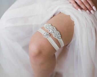 Rhinestone Garter Belt   Crystal Rhinestone Wedding Garter Belt Set   Rhinestone Bridal Garter Belt   Abigail Garter
