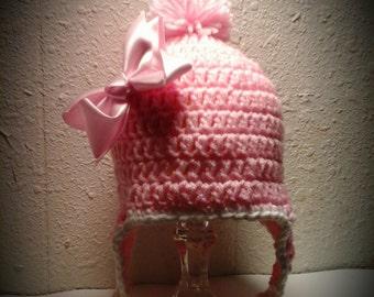 Pink Earflap Beanie