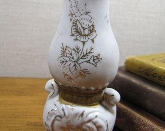 """Decorative Porcelain """"Oil Lamp"""" Vase - Made in Japan"""