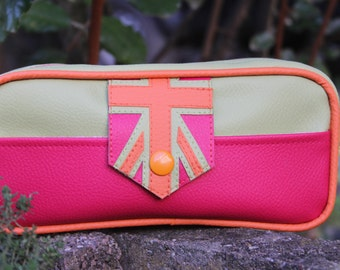 School Kit pink, green and orange