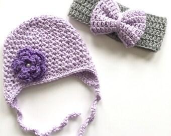Girl Crochet Hat Baby Newborn Toddler Child Earflap Beanie