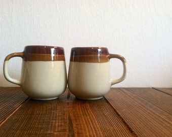 Vintage Striped Mug Set