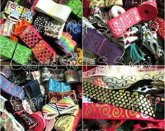 US Designer Grosgrain Ribbon Surprise Mixed Grab Bag You Choose Quantity No Choice Prints