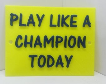 Play Like A Champion Today  Home Man Cave Notre Dame Irish Decor Faux Cast Iron Wall Art Sign Plaque