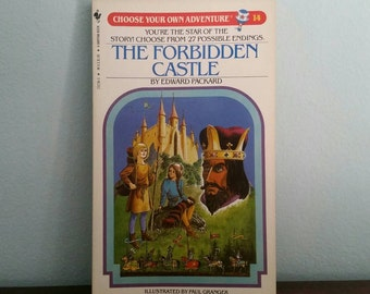 The Forbidden Castle by Edward Packard, vintage children's Choose Your Own Adventure book