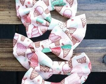 Ice cream hair clip or headband