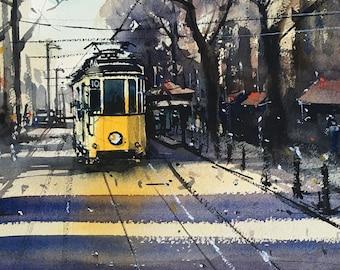 Milan's old tram