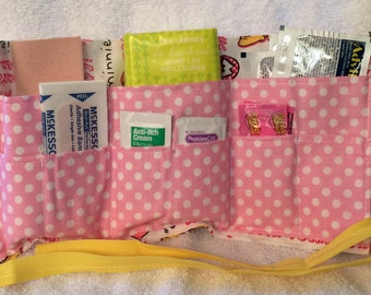 First Aid Kit  - Disney Minnie Mouse Sayings in Pink