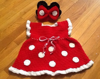 Classic minniemouse dress with headband