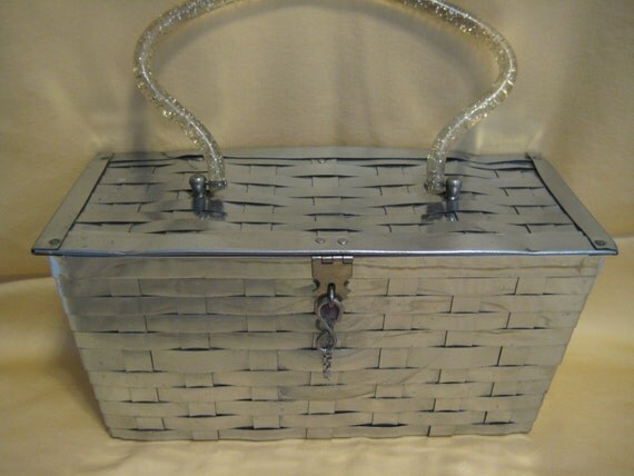 Woven Metal Box Purse by Stylecraft Miami