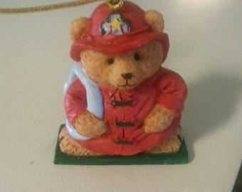 Fireman Teddy Bear Ornament