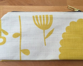 Yellow Flower Cosmetic / Make up Bag